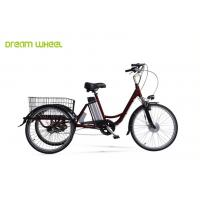 """China Pedal Assisted Electric Trike Bike 26"""" Wheel Wave With Lithium Battery wholesale"""
