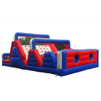 China Outdoor Kids Obstacle Bounce House , Adrenaline Rush Cross Bouncy Obstacle Course wholesale
