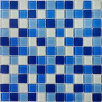 China Color Mixed glass mosaic for swimming pool tile on sale