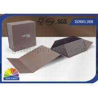 China Logo Printing Art Paper Gift / Watch Packaging Boxes , Foldable Packaging Paper Box on sale
