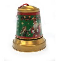 China Christmas Jingle Bell Tins for Candy wholesale
