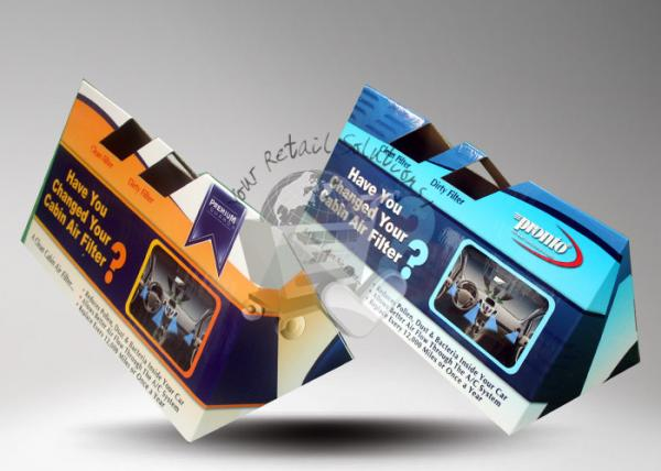 Quality Cabin Air Filters Cardboard Counter Display / Cardboard Display Boxes for sale