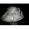 Custom Comfortable Ladies White Church Hats , Women Church Hat Squared Crown
