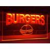 China LED Lighted Acrylic Burgers Cafe LED Neon Light Sign Edge Lit Logo Display wholesale