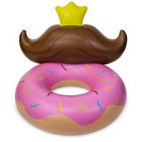 China Durable Pvc Huge Donut Mustache Pool Lounge Floats For Kids 4 Feet wholesale