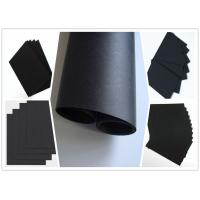 China Smooth Surface Two Side Coated Black Paper On A Roll For Shopping Bag 787 mm Width wholesale