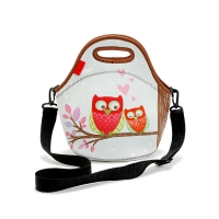 China Heat Sealed Neoprene Lunch Bags With Shoulder Strap wholesale