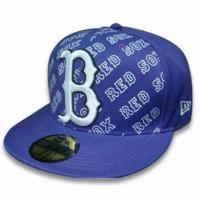 China Sports/Visor Cap, Made of 65% Cotton and 35% Polyester Knitted Jersey wholesale