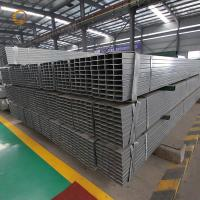 ASTM steel profile ms square tube galvanized Furniture Rectangular Pipe Factory Construction Rectangular Pipe For Sale