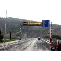 China Waterproof P10 Led Traffic Display , Single Red Color led moving message display on sale