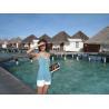Waterproof Romantic Bungalow For Mobile Villa , Bora Bora Overwater Bungalow