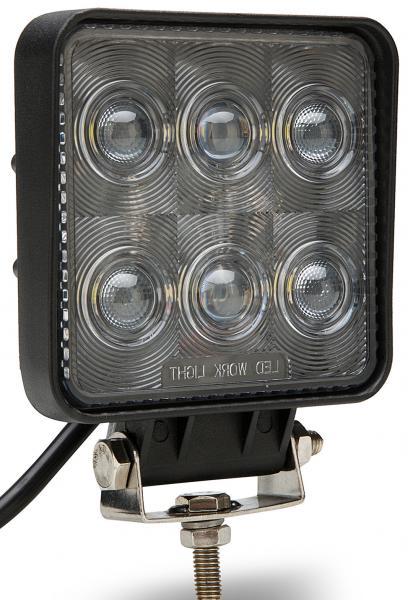 Quality 7D 10-30V high quality 18W PC lens Black led offroad work light 4x4 HCW-L18286 7D for sale