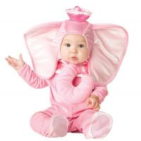 China Pink Elephant Newborn Girl Halloween Costumes Jumpsuit 0-24 Months wholesale