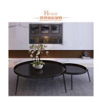 China Industrial Italy Modern Luxury Metail Black Combination Coffee Table For Living Room wholesale