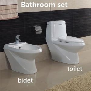 China Hot sale Elegent Sanitary Ware Ceramic Bathroom Sets Washdown One piece Toilet with Bidet wholesale