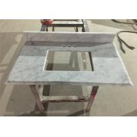 Buy cheap Bianco Carrara Prefab Bathroom Countertops With Sink , Marble Bathroom Top from wholesalers