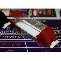 China Magic Red Baccarat Dealing 8 Decks Poker Shoe Cheating Devices With HD Camera wholesale