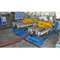 China Automatic HDPE Spiral Tube Plastic Pipe Extrusion Line With Single Screw Design wholesale