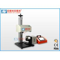 China High Speed Pneumatic Dot Peen Marking Machine with Rotary for Round Column wholesale