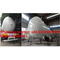 China Factory sale best price 56cbm propane gas transported trailer, HOT SALE! high quality and cheaper price lpg tank trailer on sale