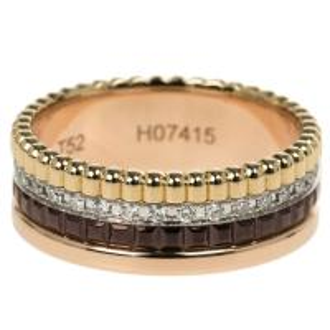 China 18K Gold Boucheron Jewelry Quatre Classic Small Ring With Diamonds Size 52 wholesale