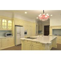 China Solid Wood Panel Complete Kitchen Cabinet Set With Quartz Countertops wholesale