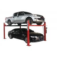 China Durable Four Post Vehicle Lift High Adaper With Hydraulic Jack Runway Width 475mm wholesale