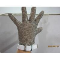 China S  Size White Chainmail Cutting Glove , Metal Mesh Safety Gloves Cut Resistant wholesale