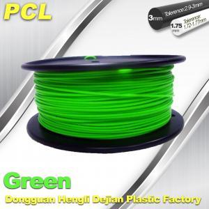 China Green Low Temperature 3D Printer Filament , 1.75 / 3.0mm PCL Filament wholesale