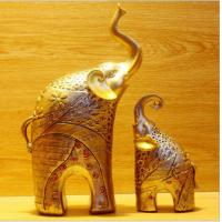 Resin elephant mother and son statue