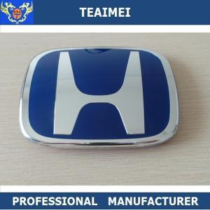 China Plastic Blue 3D Automotive Badges Emblems , Custom Civic Head Car Emblem wholesale