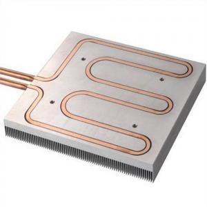 China Disipador de calor líquido refrigerado por agua del tubo del cobre del panel, disipador de calor de aluminio de la protuberancia wholesale