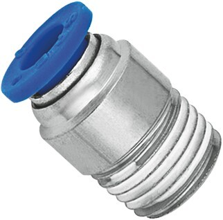 Quality Brass Nickel Planting Pneumatic NPT Threaded Fittings Push In Male Straight Run Body for sale