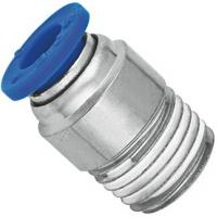 China Brass Nickel Planting Pneumatic NPT Threaded Fittings Push In Male Straight Run Body wholesale