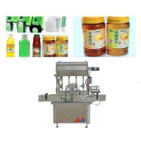 Buy cheap 750 Kg 5 KW Sauce Paste Bottle Filling Machine With Touch Screen Display from wholesalers
