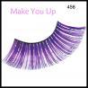 China Self-adhesive Artificial Colorful Eyelashes Hot Sale Party Custom Eyelash Packaging wholesale