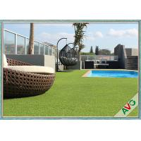 China Swimming Pool Decoration Outdoor Synthetic Grass Apple Green UV Resistance wholesale