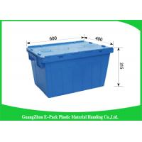 Euro Storage Plastic Attached Lid Containers Rentable Moving For Transportation And Logistics