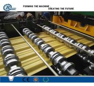 China Aluminium Zinc Coated Steel Roof Roll Forming Machine , Glazed Steel Tile Roll Forming Machine wholesale