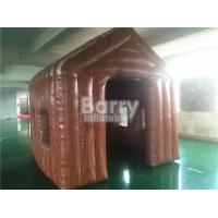China Outdoor Small 3 * 3 * 3m Brown Inflatable Tent House For Event / Hospital Rescue wholesale