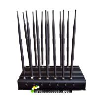 China 14 Antennas 35W High Power Adjustable Cell Phone Signal Jammer Blocker Jam GSM DCS 3G 4G Wimax Wifi GPS Camera UHF VHF wholesale