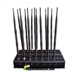 China 14 Antennas 35W High Power Adjustable Cell Phone Signal Jammer Blocker Jam GSM DCS 3G 4G Wimax Wifi GPS Camera UHF VHF wholesale
