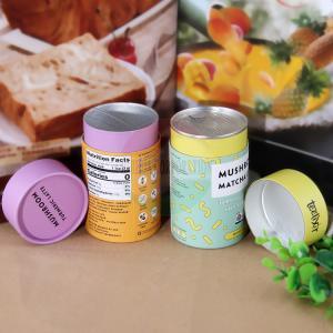 China Custom Logo Printing Easy Open End Lid Box Paper Tube For Tea wholesale