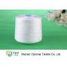 China Sewing Machine Polyester Spun Yarn , White / Colorful 100% Polyester Yarn Ne202 wholesale