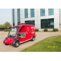 China 48V Battery Operated 2 Seaters Electric Fire Truck With CE Approved For Public Use on sale