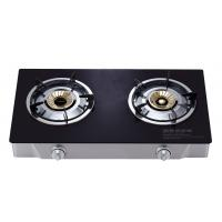 China 2 Burner Table Top Gas Stove , Two Burner Gas Cooktop With Tempered Glass Panel wholesale