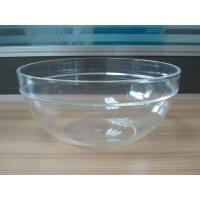 282g Round Salad Clear Acrylic Bowl With Customized Logo