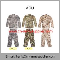 China Wholesale Cheap China Military Camouflage Color Police Army Combat Uniform ACU on sale