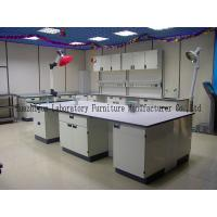 China Durable School Steel Lab Bench 1.0mm Steel Cabinets With PP Material Handle wholesale