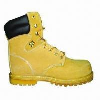 China Nubuck Leather Safety Shoes, Machine Sewn Lining, 8-inch Steel Toe and Sole wholesale